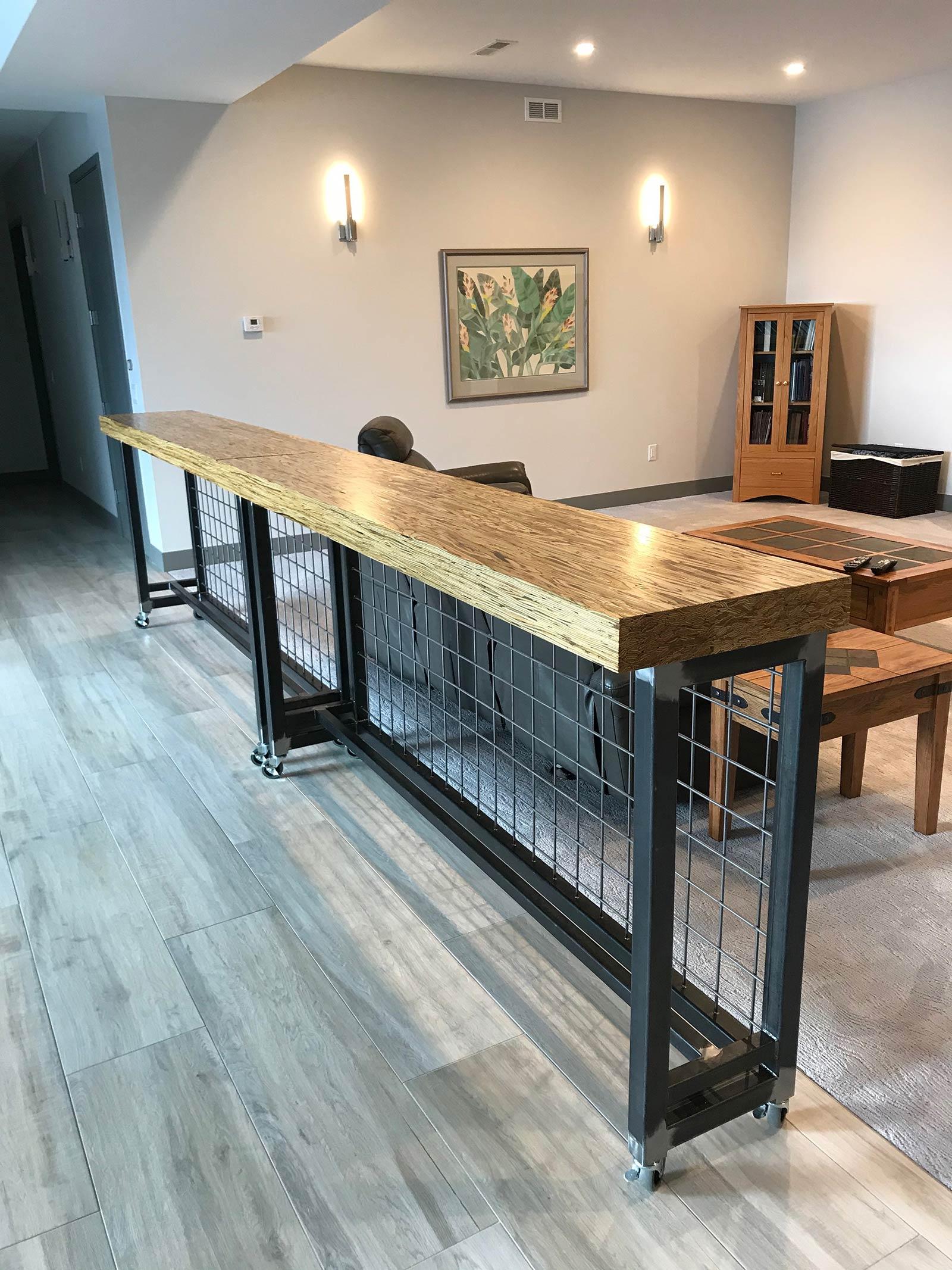 Arvada Modern Custom Mobile Kitchen Island and Room Divider