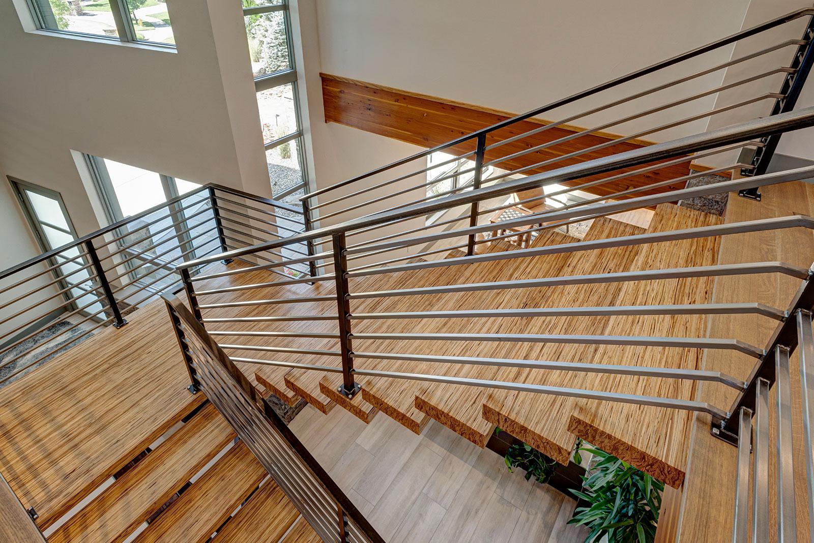 Avada Modern Custom Floating Stairs
