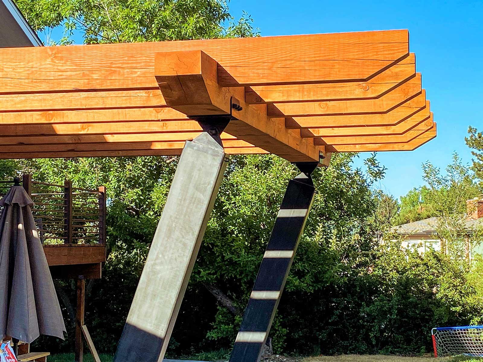 Enyart Custom Timber and Metal Pergola