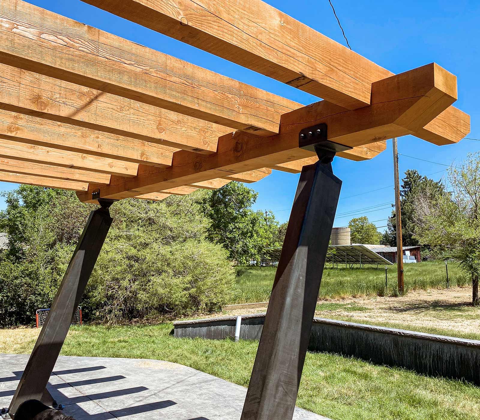 Enyart Custom Timber and Steel Pergola