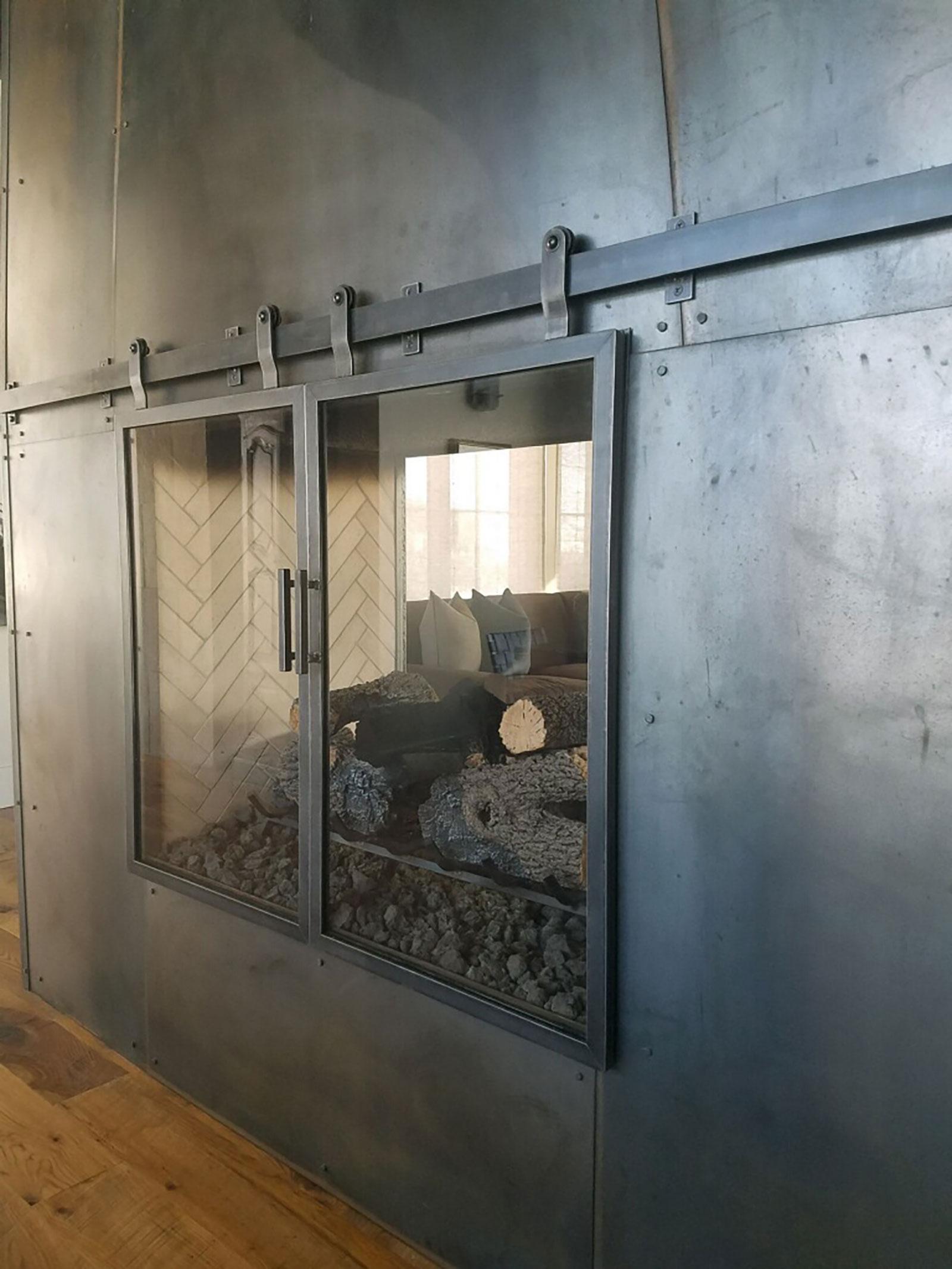 Grand Lake Custom Glass Metal Fireplace Doors
