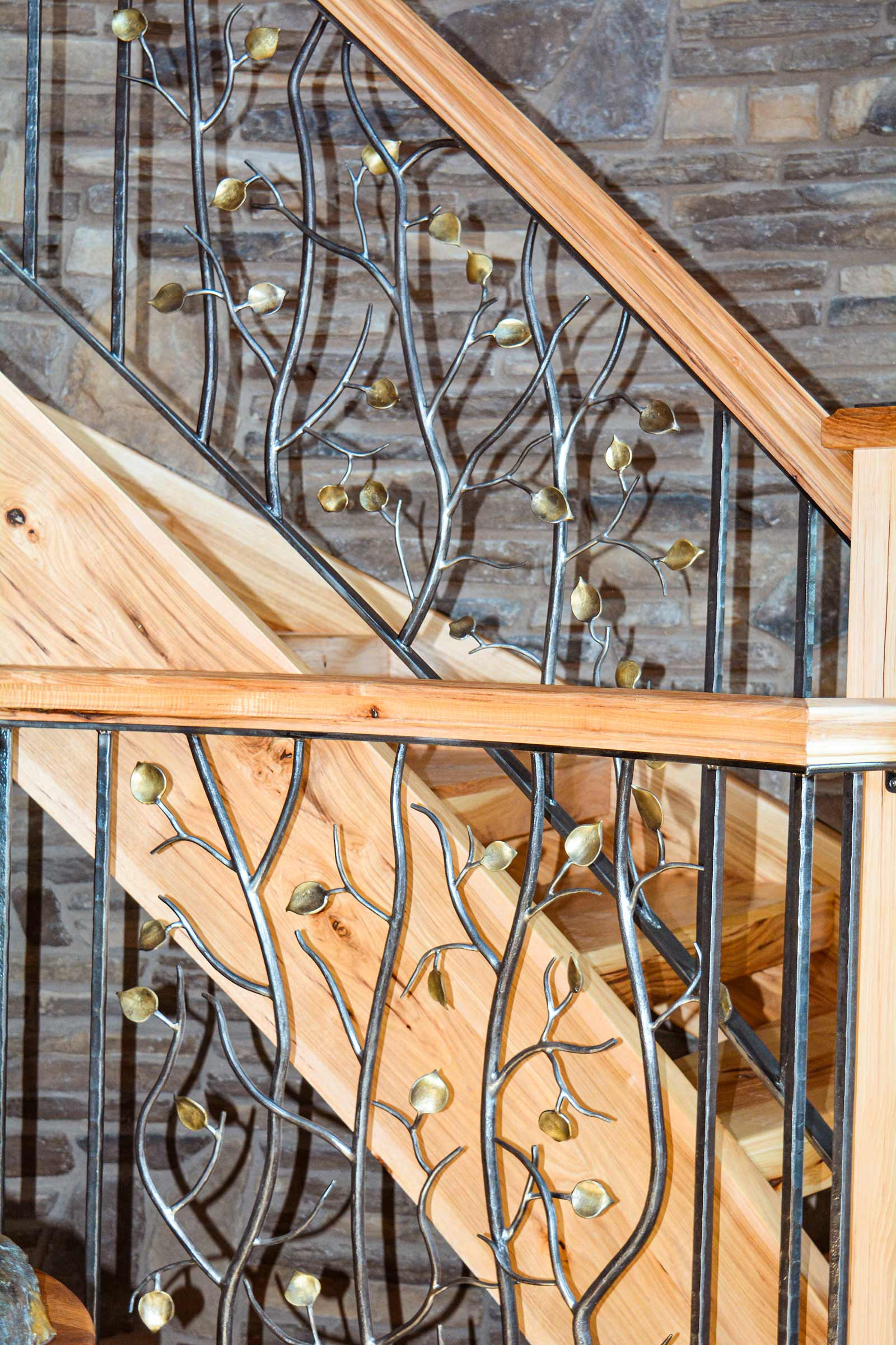 La Veta Custom Forged Aspen Rail Staircase