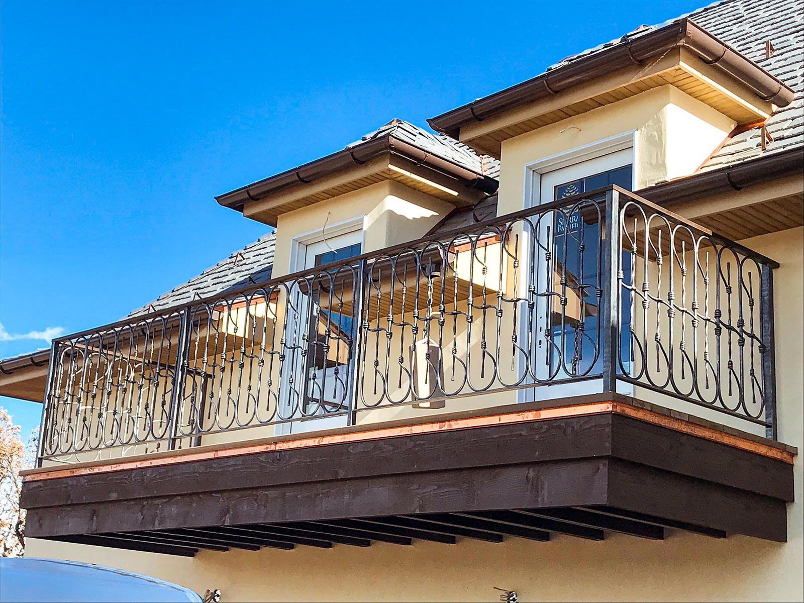 La Veta Custom Forged Balcony Rail