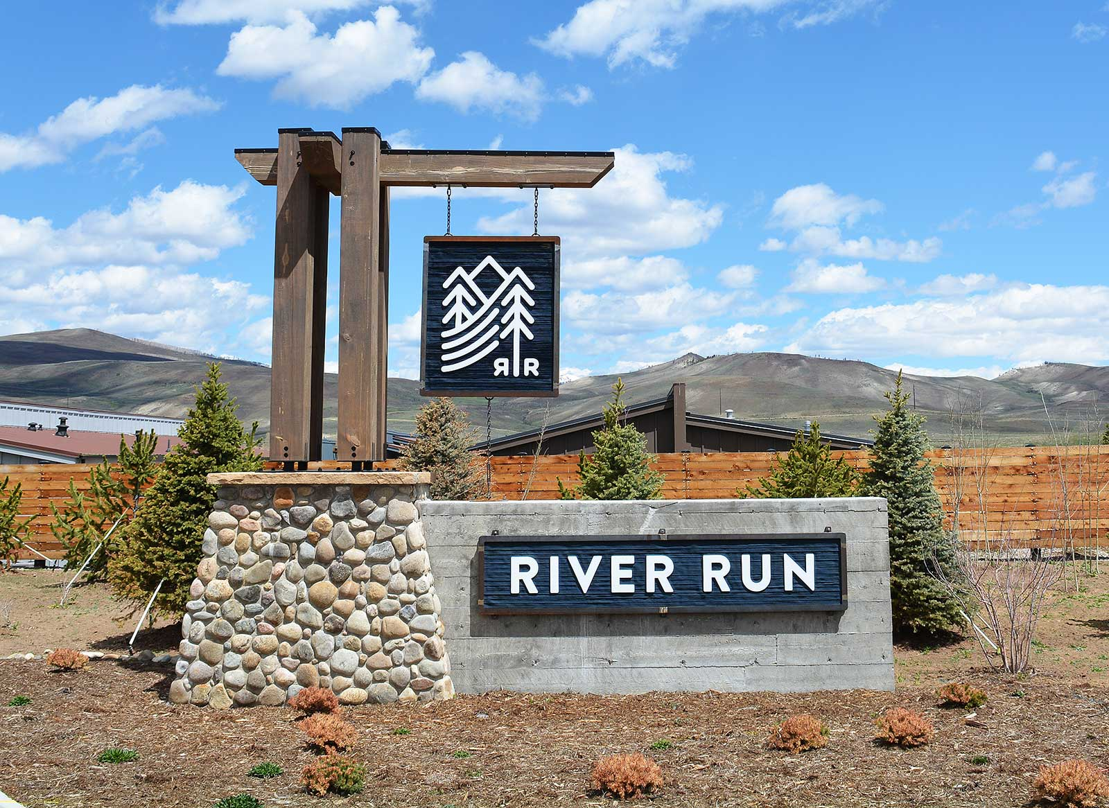 River Run Monument Custom Entry Stone Sign