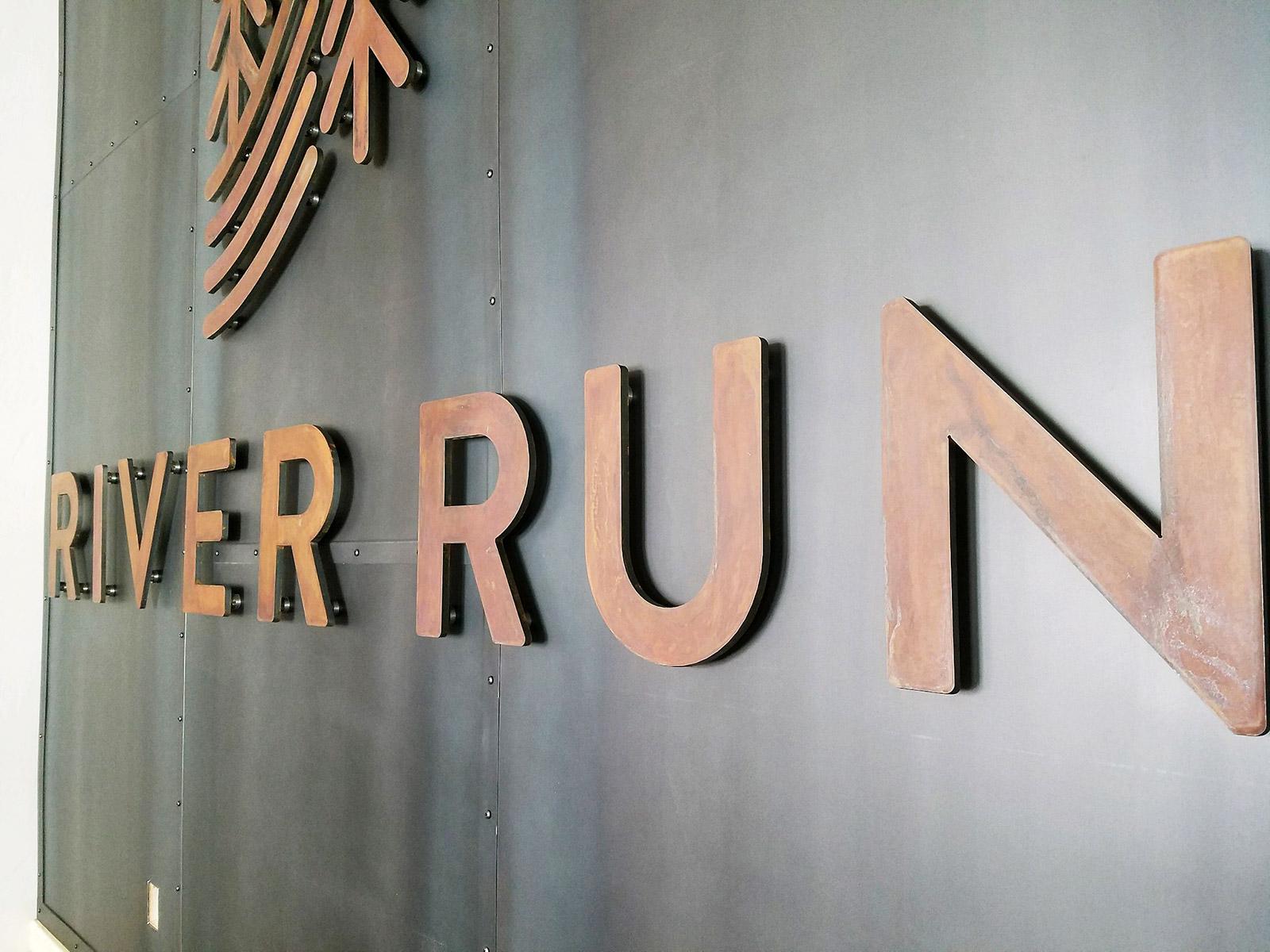 River Run Welcome Center Custom Metal Signage