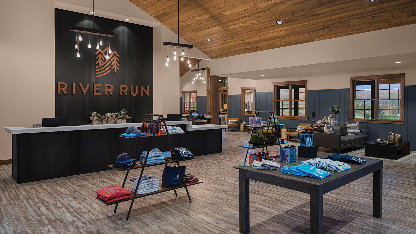 River Run Welcome Center Custom Metal Signage and Counters