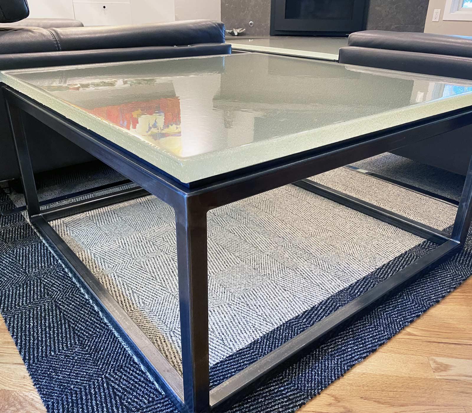 Crowe Cast Glass Tables
