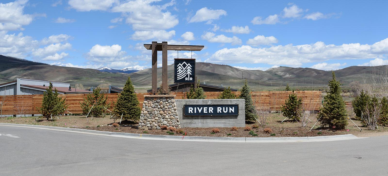 River Run Monument Custom Entry Sign