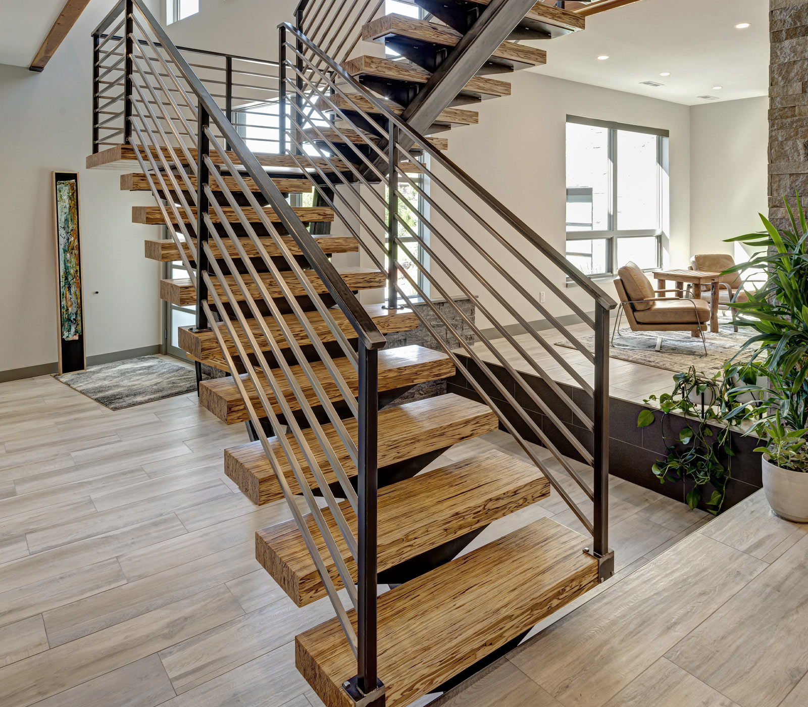 Arvada Modern Floating Staircase